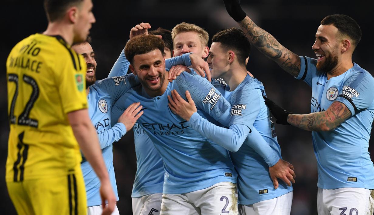 FOTO: Manchester City Amuk Burton Albion 9 Gol Tanpa Balas ...