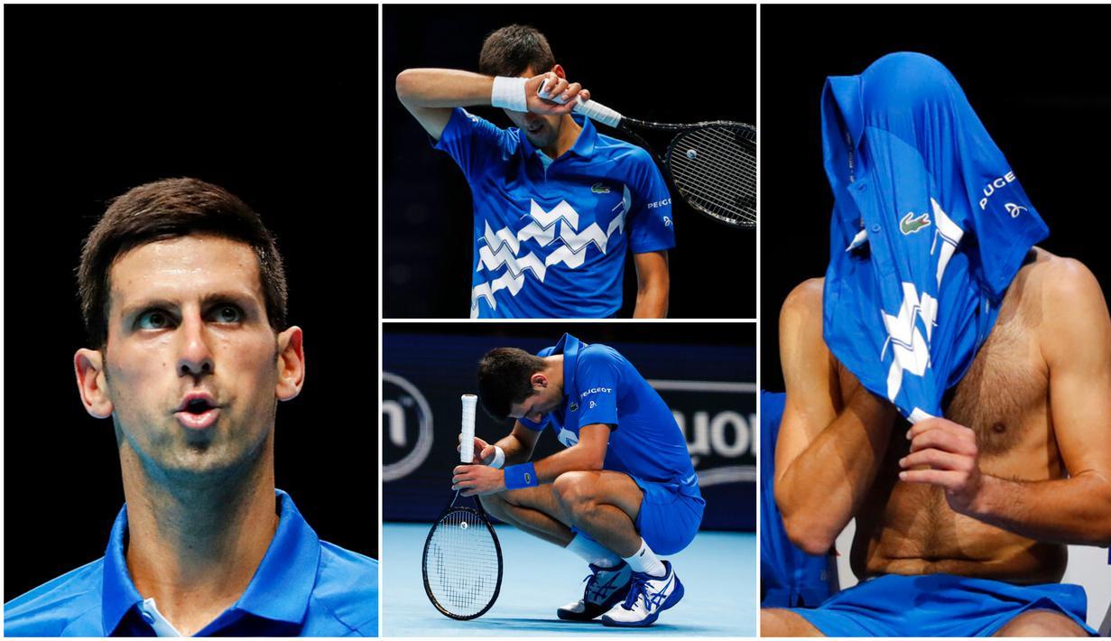 Petenis nomor satu dunia, Novak Djokovic, harus mengakui keunggulan petenis Rusia, Daniil Medvedev, usai disingkirkan pada aja ATP Finals di London. Novak Djokovic menyerah dengan skor 6-3, 6-3.