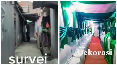 Viral, Pasangan Ini Sulap Gang Sempit Jadi Dekorasi Lokasi Pernikahan