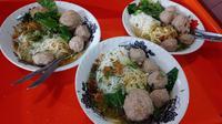 Salah satu hidangan mie bakso Hampor Haji Mamad yang cukup digemari masyarakat Garut (Liputan6.com/Jayadi Supriadin)