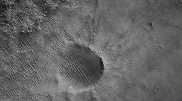 Penampakan Lokasi Pendaratan Rover NASA di Mars. Sumber: NASA/JPL-Caltech