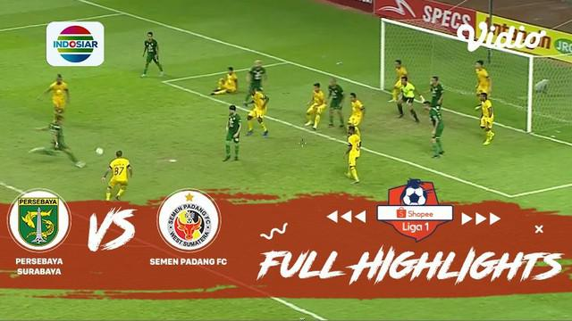 Berita video highlights lanjutan Shopee Liga 1 2019 antara Persebaya Surabaya melawan Semen Padang yang berakhir dengan skor 1-1, Kamis (28/11/2019).