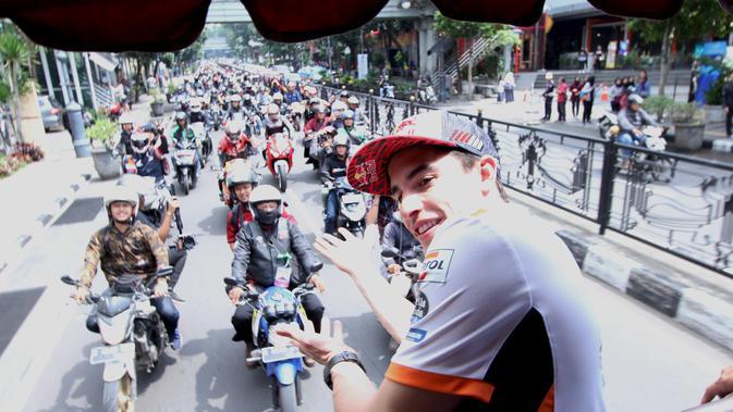 Marc Marquez naik Bandros di Bandung (ist)