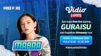 Main bareng Free Fire bersama Grace eks JKT48, Senin (8/2/2021) pukul 19.00 WIB dapat disaksikan melalui platform Vidio. (Dok. Vidio)