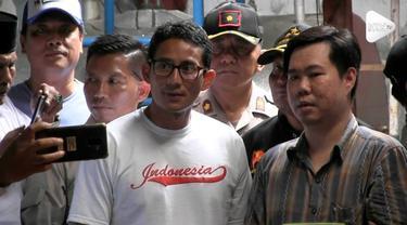 Cawapres Sandiaga Uno Mendatangi UMKM di daerah Tangerang Banten. Sandi Mengunjungi pabrik kecap khas Tangerang