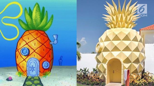 Rumah Spongebob yang difungsikan sebagai hotel ini memiliki fasilitas sama seperti di film dan dihargai 49 juta rupiah per malam.
