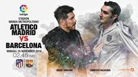 Atletico Madrid vs Barcelona (Liputan6.com/Abdillah)