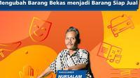 Nursalam, pengrajin barang bekas menjadi barang siap jual di Pesta Rakyat Simpedes (PRS) episode 9. (Merdeka.com)