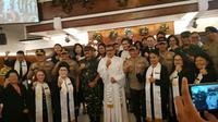 Kapolri dan Panglima TNI di GPIB Paulus (Liputan6.com/M Radityo)