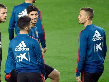 Intip Latihan Timnas Spanyol Jelang Hadapi Norwegia di Mestalla