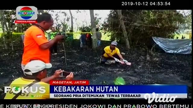 Kakek Jino (80) pensiunan guru ditemukan tewas dengan sekujur tubuhnya hangus. Ia diduga terbakar saat memadamkan api yang membakar bambu di dekat tempat tinggalnya.
