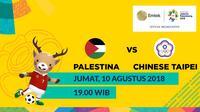 Jadwal Sepak Bola Asian Games 2018, Palestina vs Chinese Taipei. (Bola.com/Dody Iryawan)