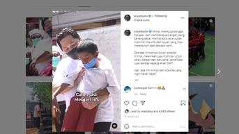 Lucunya Erick Thohir Bertemu dengan Calon Menteri BUMN Cilik