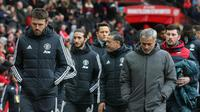 Michael Carrick bersama Zuca Mourinho berada di jajaran pelatih Manchester United. (Twitter/Michael Carrick)