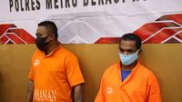 Dua pelaku penganiayaan anggota ormas diamankan Polres Metro Bekasi Kota. (Ist)