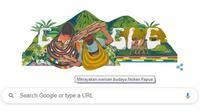 Google Doodle Noken Papua (sumber: Google)