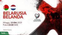 Kualifikasi Piala Eropa 2020 - Belarusia Vs Belanda (Bola.com/Adreanus Titus)