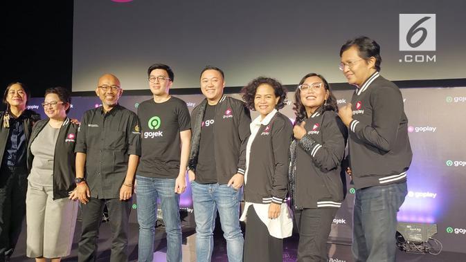 Acara peluncuran GoPlay di Jakarta, Kamis (26/9/2019). (Liputan6.com/ Andina Librianty)
