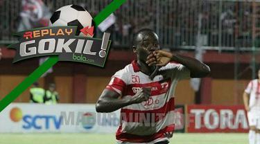 Replay Gokil kali ini menyajikan Erick Weeks yang melakukan tarian kocak usai cetak gol untuk Madura United.