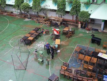 Sisa Banjir di SMAN 8 Jakarta