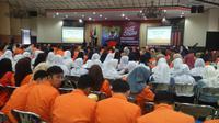 Kanwil DJP Wajib Pajak Besar melaksanakan acara Gerakan Sadar Pajak di Politeknik Pos Indonesia, Jumat (9/11/2018). (Huyogo Simbolon)