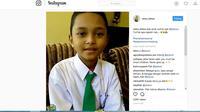 Siswa peraih juara oliampiade matematika tingkat nasional meminta bantuan biaya pada Jokowi agar dapat lanjut ke tingkat internasional. (Instagram/@neira_fatma)