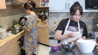 Gaya selebriti masak di dapur (Sumber: Instagram/ruben_onsu)