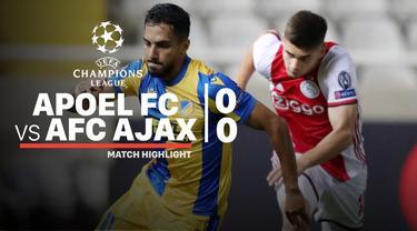 Berita video highlights playoffs Liga Champions 2019-2020 antara APOEL melawan Ajax yang berakhir dengan skor 0-0, Selasa (20/8/2019).