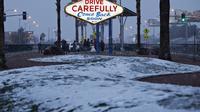 Salju langka di Las Vegas (AFP)
