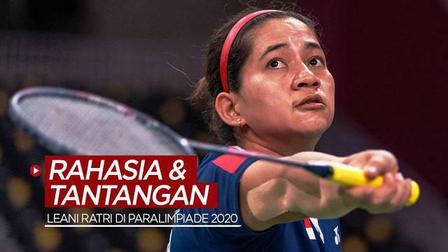 Berita video atlet para bulutangkis Indonesia, Leani Ratri Oktila, mengungkapkan rahasia keberhasilannya dan tantangan yang dijumpai di Paralimpiade Tokyo 2020.
