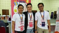 Andrew Marchen (tengah), CEO di CepatSwipe, saat menghadiri acara Tech in Asia Conference