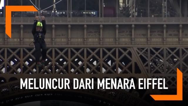 Bagaimana rasanya meluncur dengan tali sepanjang 800 meter dari menara Eiffel Paris? Berikut pengakuan salah seorang relawan yang berkesempatan menjajal aksi ekstrem tersebut.