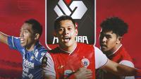 Piala Menpora - Pratama Arhan, Taufik Hidayat, Braif Fatari (Bola.com/Adreanus Titus)
