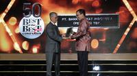 PT Bank Rakyat Indonesia (Persero) Tbk meraih penghargaan Best of the Best dari Forbes Indonesia, majalah bisnis dan finansial yang berafiliasi dengan majalah Forbes di Amerika Serikat.