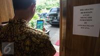 Larangan bermain Pokemon Go di lingkungan Istana Kepresidenan (Liputan6.com/ Faizal Fanani)