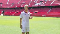 Gelandang Prancis, Samir Nasri adalah pemain Manchester City yang dipinjamkan The Citizen ke Sevilla, Nasri dikabarkan kemungkinan masih akan menjalani masa pinjaman di klub Spanyol tersebut untuk musim 2017-2018.  (EPA/Raul Caro)