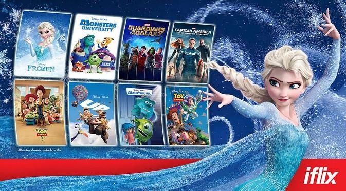 Konten film Disney hadir di iflix. (Foto: iflix Indonesia)