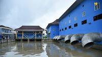 Kementerian PUPR telah menyelesaikan normalisasi Sungai Bendung untuk mereduksi banjir akibat meluapnya Sungai Bendung yang bermuara di Sungai Musi. (Dok Kementerian PUPR)