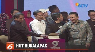 Presiden Jokowi berharap Bukalapak bisa membimbing UMKM naik kelas.