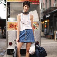 Rok jeans (Foto: Instagram/ @thesartorialist)