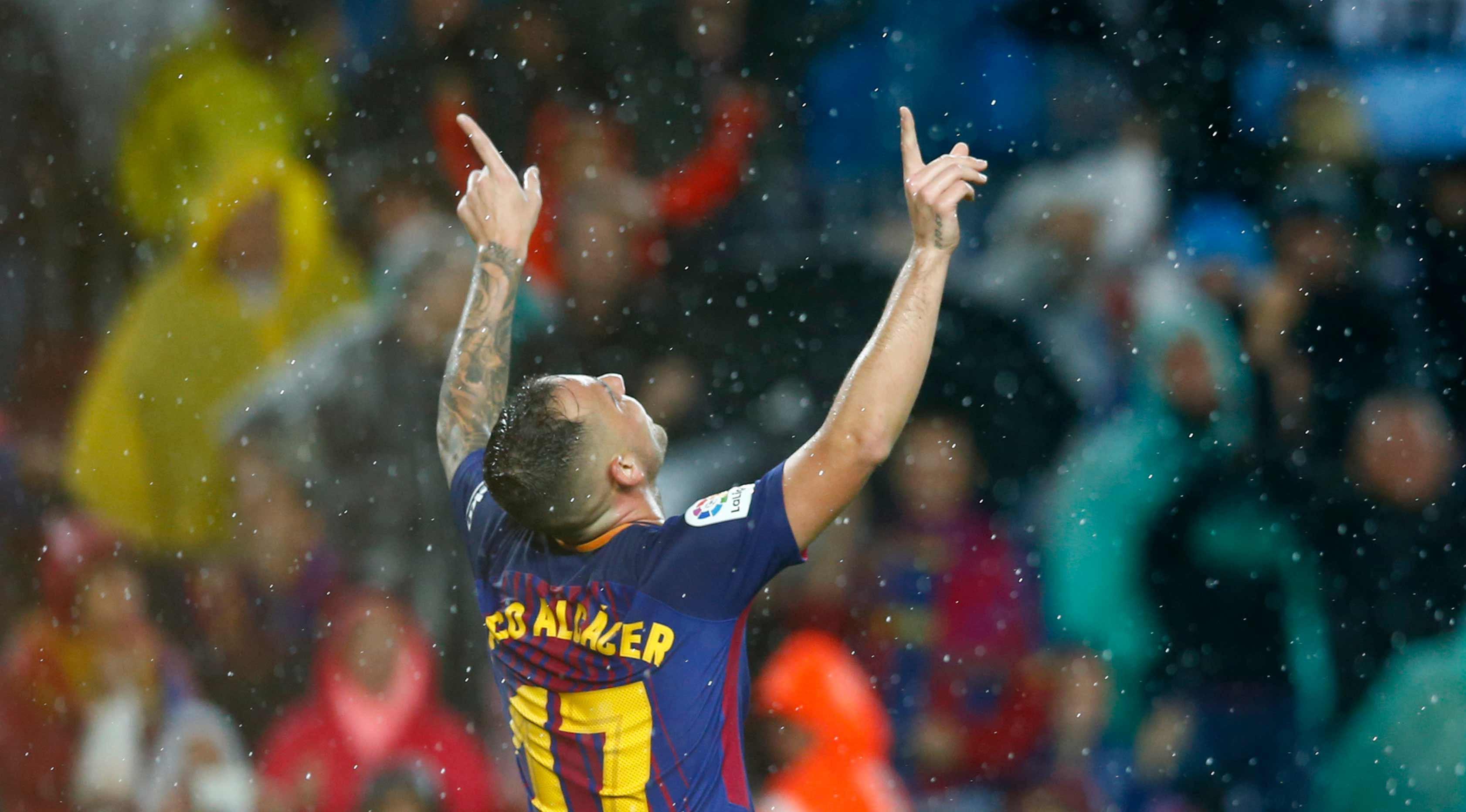 Penyerang Barcelona, Paco Alcacer (AP Photo/Manu Fernandez)