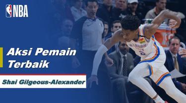 Berita Video aksi-aksi Shai Gilgeous-Alexander saat Oklahoma City Thunder Kalahkan Timberwolves 117-104 di NBA
