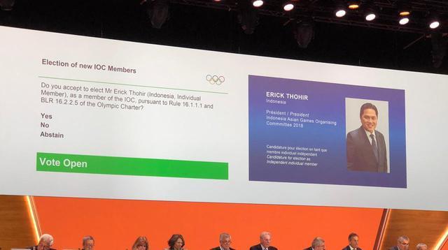 Erick Thohir Terpilih Duduki Kursi Elite Komite Olimpiade International (ist)