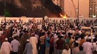 Ledakan bom di Madinah. (Reuters)