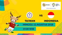Jadwal Sepak Bola Asian Games 2018, China Taipei vs Indonesia. (Bola.com/Dody Iryawan)