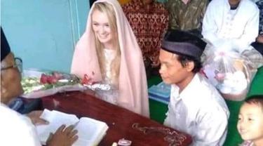 Viral, Pernikahan Cowok Muntilan dengan Bule Cantik Inggris