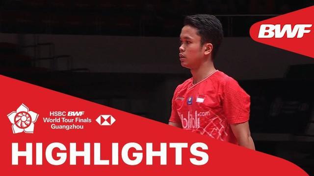 Berita video match highlights BWF World Tour Finals nomor tunggal putra antara wakil Denmark, Viktor Axelsen, melawan salah satu andalan Indonesia, Anthony Sinisuka Ginting, Jumat (13/12/2019).
