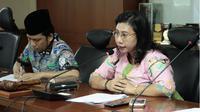 Wakil Ketua Komite III DPD RI Novita Anakotta di Gedung DPD RI Komplek Parlemen.