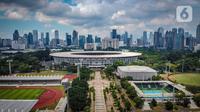 Foto udara gedung bertingkat di kawasan Sudirman, Jakarta, Rabu (8/4/2020). Berdasarkan US Air Quality Index (AQI), pukul 12.00 WIB, kualitas udara Jakarta tercatat di angka 35 serta polutan parameter PM2,5 menempatkan Jakarta diperingkat 78 dengan kualitas udara sedang. (Liputan6.com/Faizal Fanani)