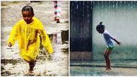 Aksi Nyeleneh Orang Saat Hujan Turun Ini Bikin Tepuk Jidat (sumber:instagram/harisaimar_indonesia dan eida_ismailofficial)